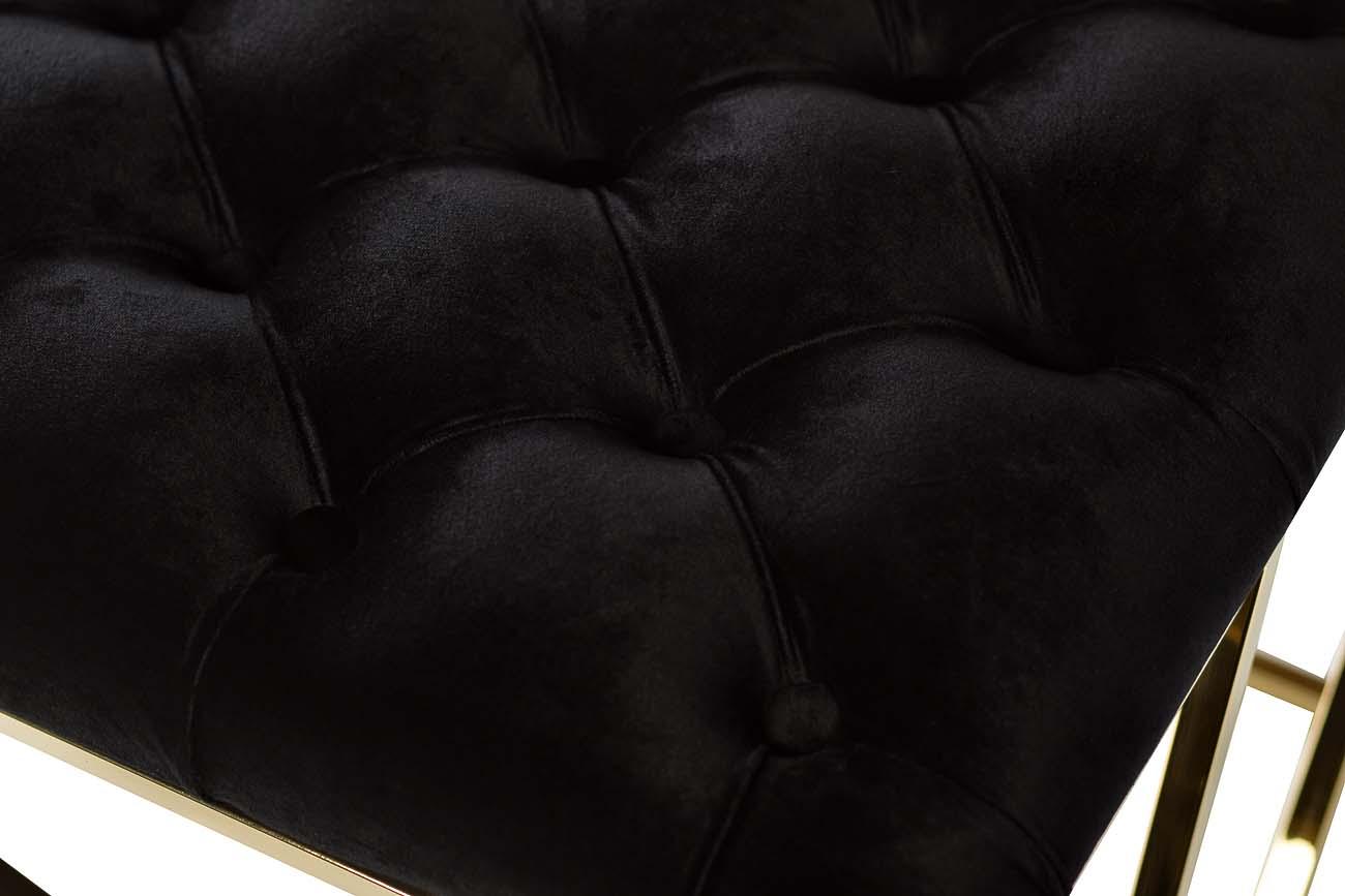 Банкетка черная велюровая gy-ben7835gold-bl