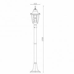 Уличный светильник Lucide Tireno 11835/01/31