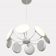 Подвесная светодиодная люстра Crystal Lux Maxime SP8 D500 Silver