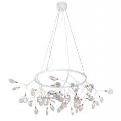 Подвесная светодиодная люстра Crystal Lux Evita SP45 D White/Transparent