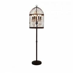 BIRDCAGE CRYSTAL FLOOR LAMP