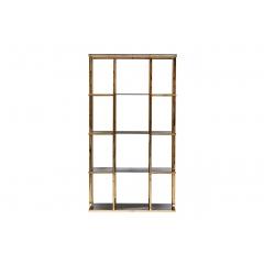 Стеллаж с черным стеклом (золотой) 46as-sh1537-gold