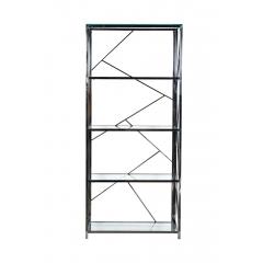 Стеллаж с прозрачным стеклом (хром) gy-sh8711bl