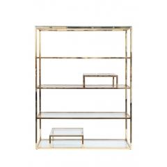 Стеллаж с прозрачным стеклом (золотой) gy-sh8005gold