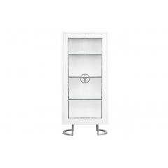 Витрина garda decor белая с хром gd-vi003