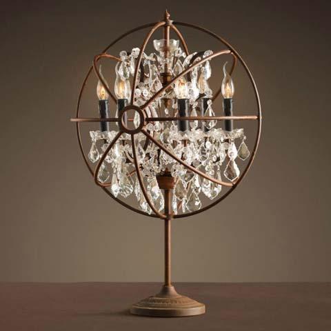лампа настольная Foucault's orb crystal 8031–6TA